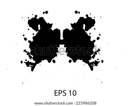 Rorschach inkblot test illustration - stock vector