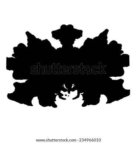 Rorschach inkblot test illustration, random abstract background. - stock vector