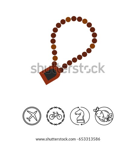 Rosary Prayer Icon Stock Vector Royalty Free 653313586 Shutterstock