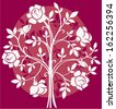 rose bush - stock vector