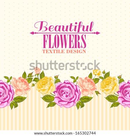 Rose frame invitation card. Vector illustration. - stock vector