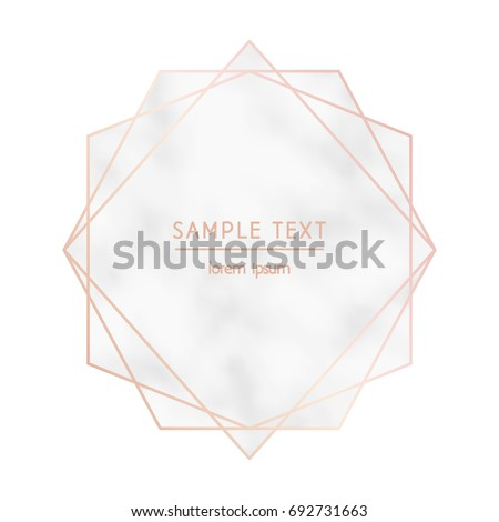 Rose gold geometric diamond marble texture em vetor stock 692731663 rose gold geometric diamond with a marble texture background vector modern design template for wedding stopboris Choice Image