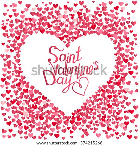 Rose Greeting Card Phrase Saint Valentines Vector 574212733 – Saint Valentine Card