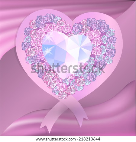 rose heart illustration, can be used as greeting cards for Valentine's day - stock vector