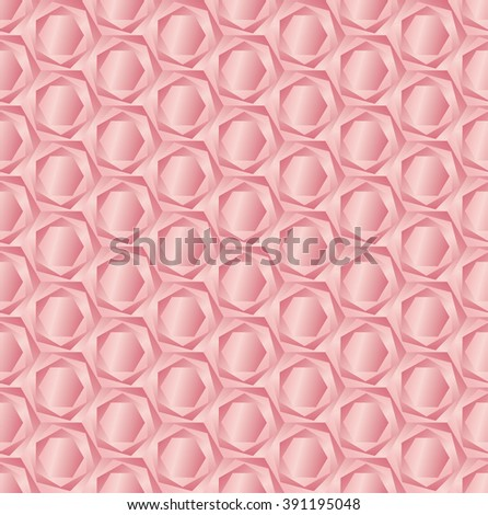 rose hexagon light 3d geometric pattern  - stock vector