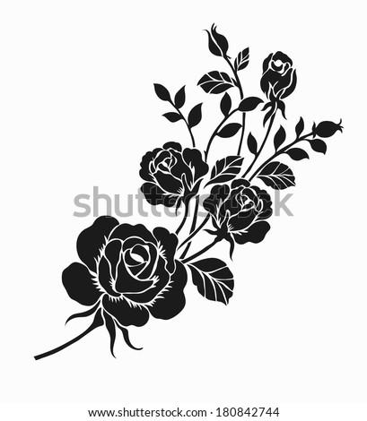 rose motifflower design elements vector stock vector 164190065 shutterstock. Black Bedroom Furniture Sets. Home Design Ideas