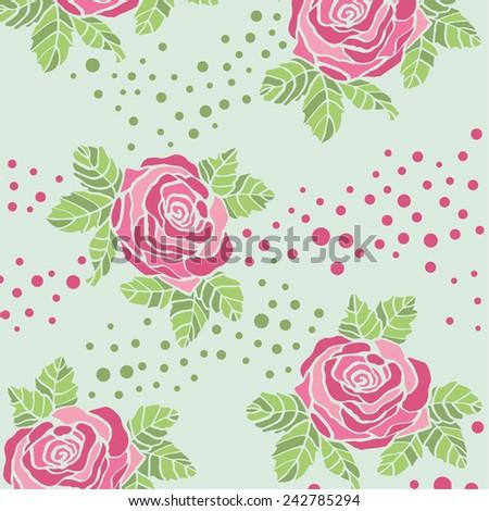 Rose pattern. - stock vector