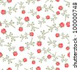 Rose seamless background floral pattern - stock vector