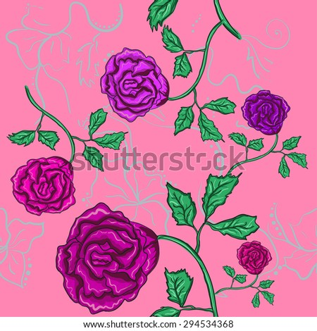 Rose seamless texture