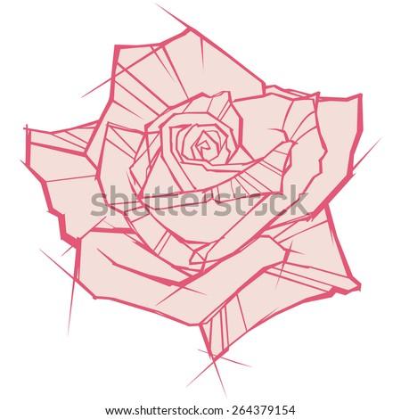 rose vector  - stock vector