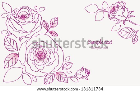 Roses decorative - stock vector
