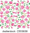 Roses fabric pattern 01 (Vector) - stock vector