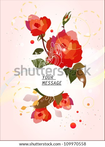 Roses floral background
