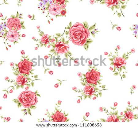 roses patterns,floral ,seamless pattern,vectors - stock vector
