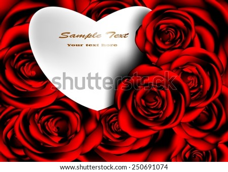 Roses vector background graphics for valentine