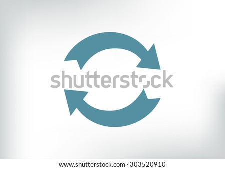 rotation arrows in a circle web icon. vector design