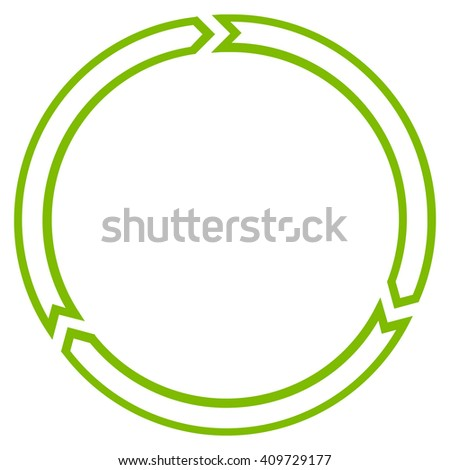 Rotation Circle vector icon. Style is outline icon symbol, eco green color, white background.