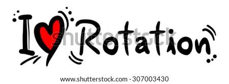 Rotation love - stock vector