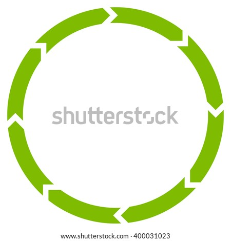 Rotation vector icon. Style is flat icon symbol, eco green color, white background.