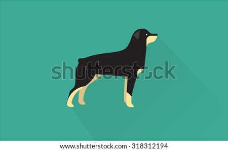 rottweiler icon - stock vector