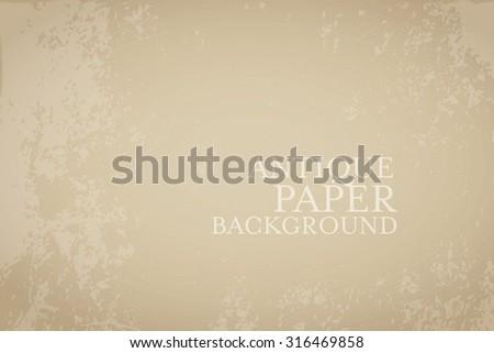 Rough antique paper vector background - stock vector