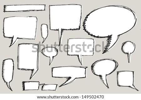 Rough talk balloons - stock vector