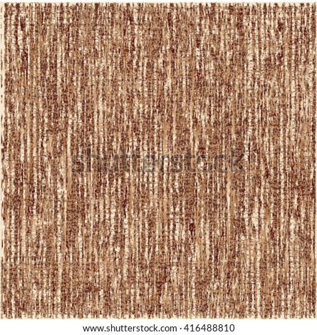 Rough texture. Brown striped background. Vector design. - stock vector