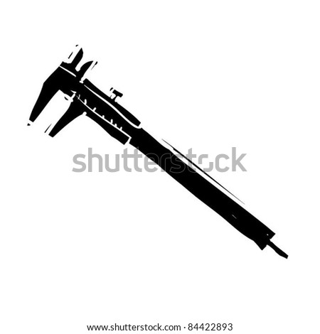 rough woodcut illustration of a clippers - stock vector