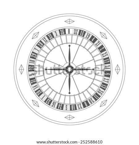 Roulette - stock vector