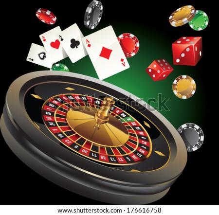 roulette casino - stock vector