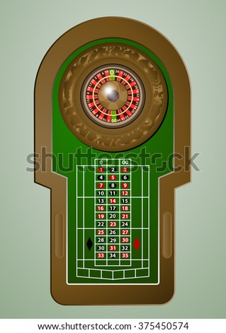 roulette casino (not for game) - stock vector