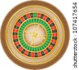 roulette casino vector illustration isolated on white background - stock photo