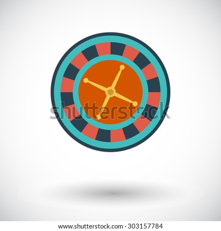 Roulette icon. Flat vector related icon for web and mobile applications. It can be used as - logo, pictogram, icon, infographic element. Vector Illustration.  - stock vector