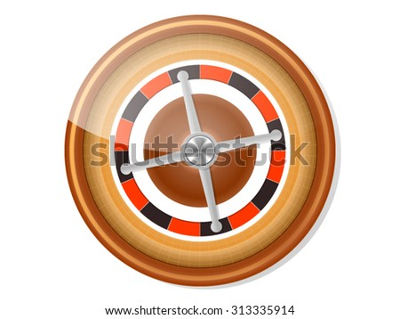 Roulette Icon Isolated on White - stock vector