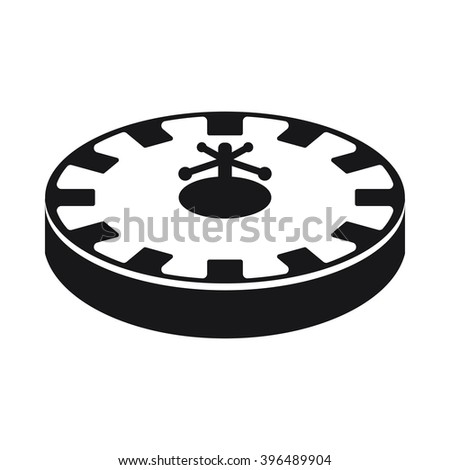 Roulette icon Vector Illustration on the white background. - stock vector