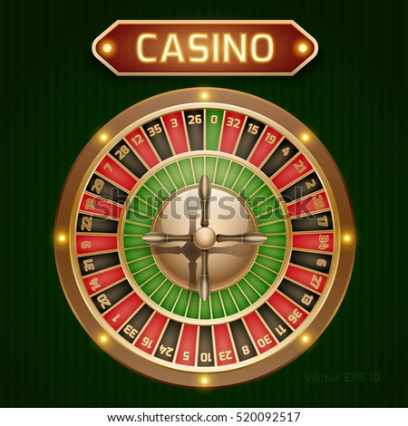 Roulette is a casino in retro style. Vector illustration of the game