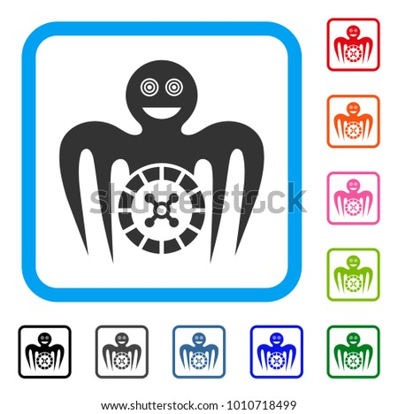 Roulette Mad Monster Icon Flat Grey Stock Vector 2018 1010718499