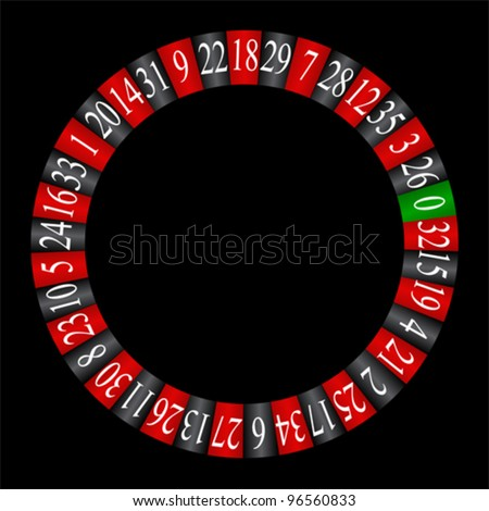 Roulette wheel, vector - stock vector