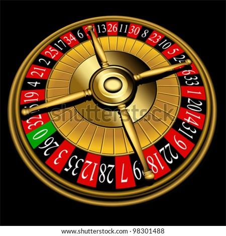 Roulette wheel, vector - stock vector