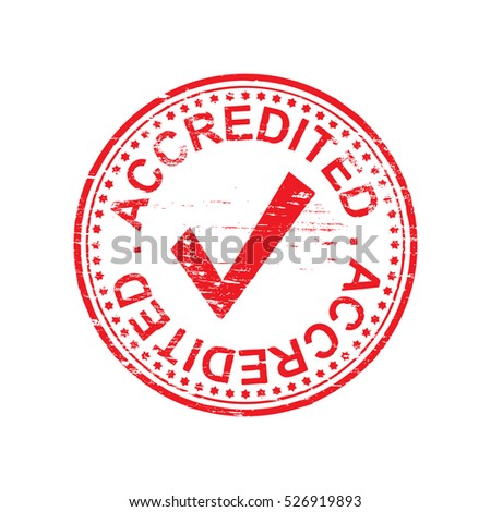 Round accredited grungy rubber stamp symbol vector illustration