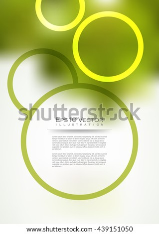 round and circles abstract A4 size elegant background, eps10 vector - stock vector