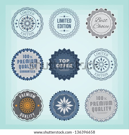 Round badges. EPS10. - stock vector