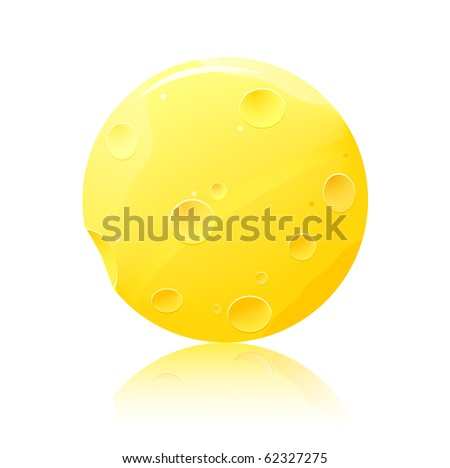 round cheese icon isolated on white background