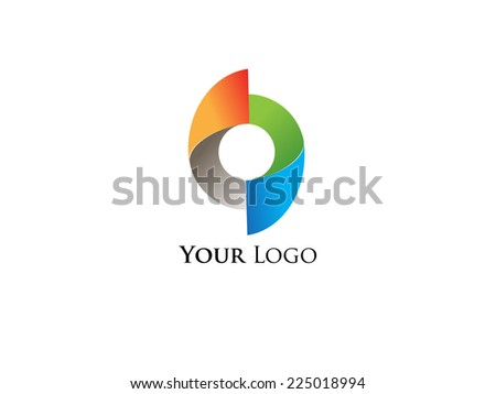 Round color logo vector illustration - stock vector