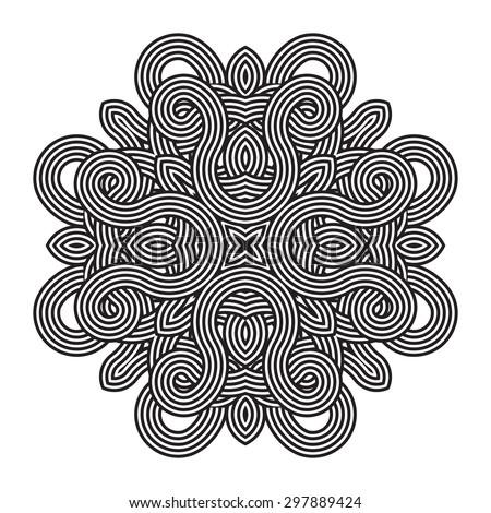 round decor element. Mandala tatto - stock vector