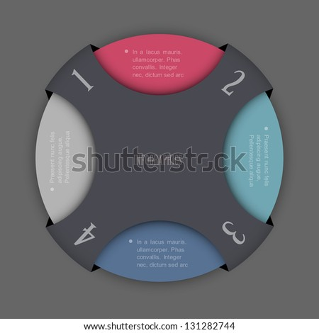 Round design template for infographics and website templates or design graphic for business. Vector EPS10 - stock vector