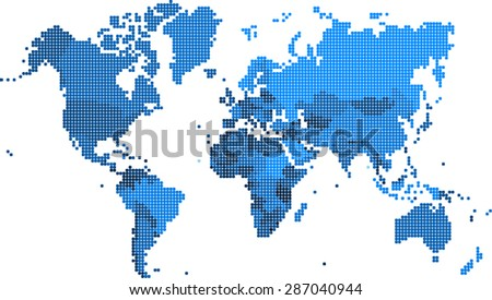 Pixel square shape world map vector stock vector 287401553 round edge square shape world map vector illustration gumiabroncs Images
