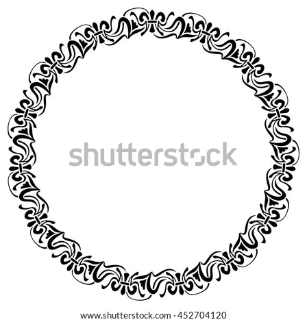 Round elegant frame. Design element for advertisements, logo, banners, labels, prints, posters, web, presentation, invitations, weddings, greeting cards, albums. Vector clip art. - stock vector