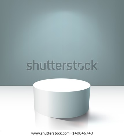 Round empty podium. EPS10 vector. - stock vector