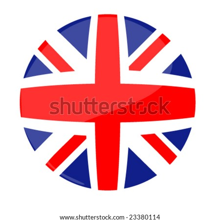 round flag icon of uk